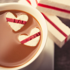 Coffee with hearts