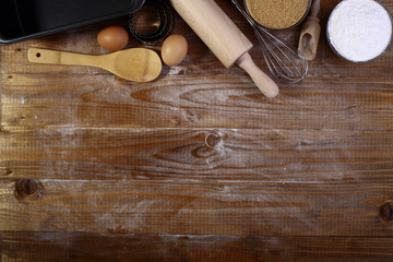 Ingredients and appliances for baking