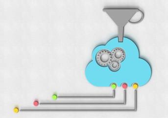 Cloud Trichter Zahnrad Netzerk