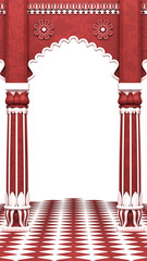 Traditional Red Indian Column Arc