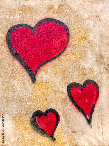 Graffiti Herz Poster