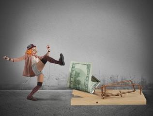 Clown money trap