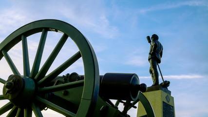 Gettysburg Civil War Statue Time-lapse.