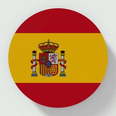 Spain flag round button