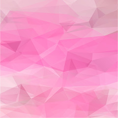 Polygon abstract texture in romantic pink colors background