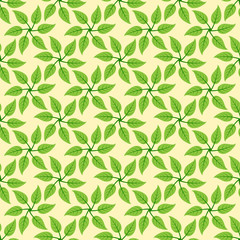 Windmill leaves pattern