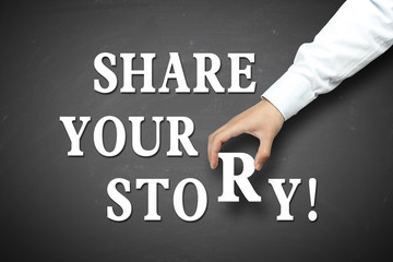 Business share your story concept