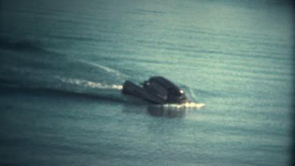 (Super 8 Vintage) Jetski Driver Falls Off