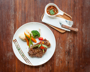 Thai beef steak