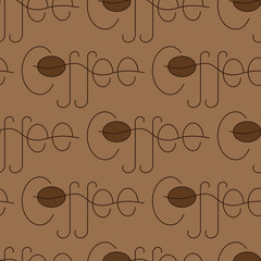 Coffee lettering pattern