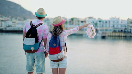 The guy with the girl travel