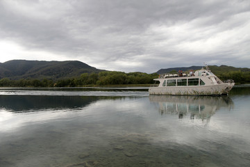 Boats on Lake Banyoles