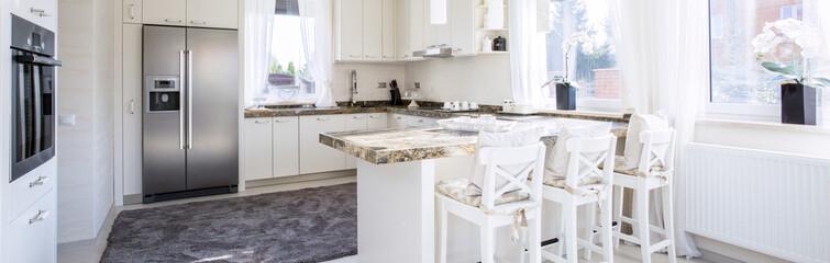 Spacious kitchen with countertop