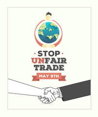 Fair Trade day vector