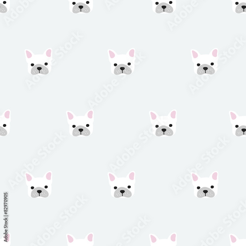 seamless french bulldog pattern - 82970905