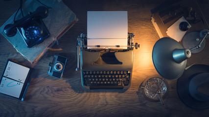 Vintage journalist's desk