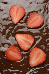 Chocolate y fresas