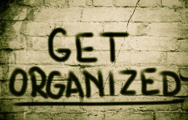 Get Organized Concept