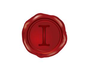 I Wax Seal Alphabet