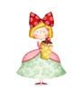 Obrazy na płótnie, fototapety, zdjęcia, fotoobrazy drukowane : Cute small girl with cupcake. Birthday  party