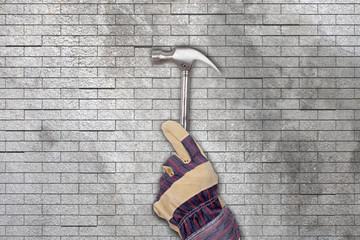 Hammer and glove