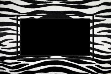black and white frame with zebra stripes