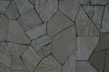 Immagine di una parete rivestita di marmo irregolare