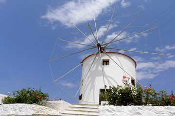 white washed mill at Kos Greece