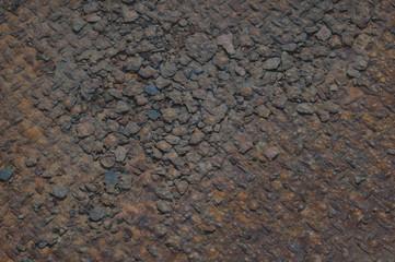 Immagine di lastra di ferro corrosa dalla ruggine