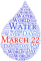 World Water Day - tag cloud