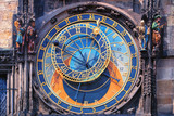 Famous astronomical clock Orloj in Prague