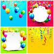 Obrazy na płótnie, fototapety, zdjęcia, fotoobrazy drukowane : Birthday backgrounds