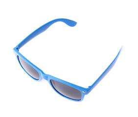 Dark plastic sunglasses isolated