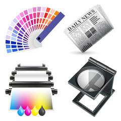Vector print icon set