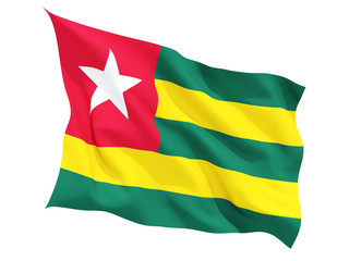 Waving flag of togo