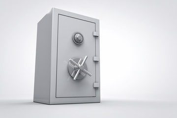 3D bank safe box isolated render