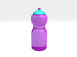 sports water bottle on white