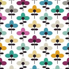 Blumen im Retro-Stil