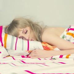 beautiful sleeping girl