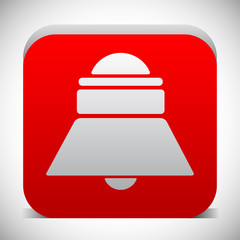 Red bell, siren icon. Notification, alarm. vector
