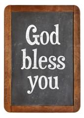 God bless you on blackboard