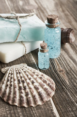 Spa still life with seashells