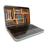 E-learning education internet library or book store.