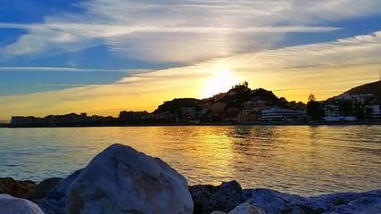 Coast at sunset Málaga Spain