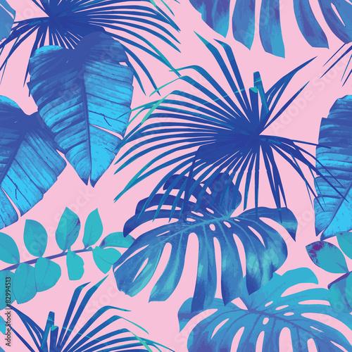 Zdjęcia na płótnie, fototapety, obrazy : tropical leaves seamless background