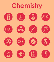 Set of chemistry simple icons