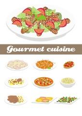 Gourmet cuisine illustration