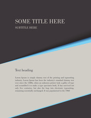 Brochure template, Letter size background VECTOR