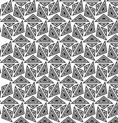 Monochrome hexagonal triangle pattern