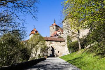 Rothenburg ob der Tauber, Kobolzell gate, Bavaria